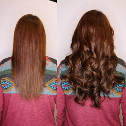 hair extensions adding fullness