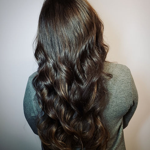 curled brunette hair extensions