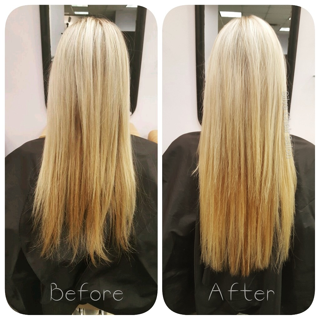 damaged ends hidden with hair extensions