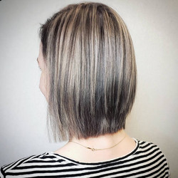 short silver hair color