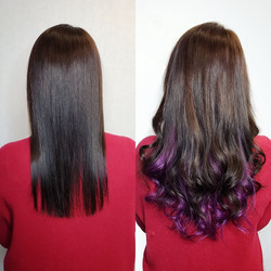 hair extensions for fullness and purple
