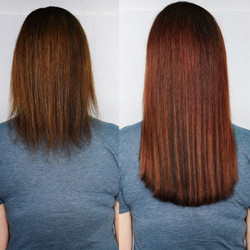 coppery hair extensions