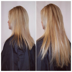 hair extensions blonde and beige