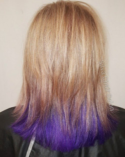 purple and beige hair color