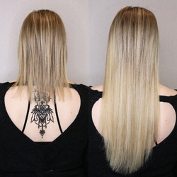 blonde hair extensions on fine hair