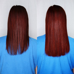 red hair extensions for full hair