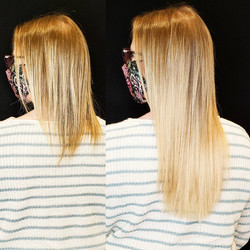 matching balayage with extensions