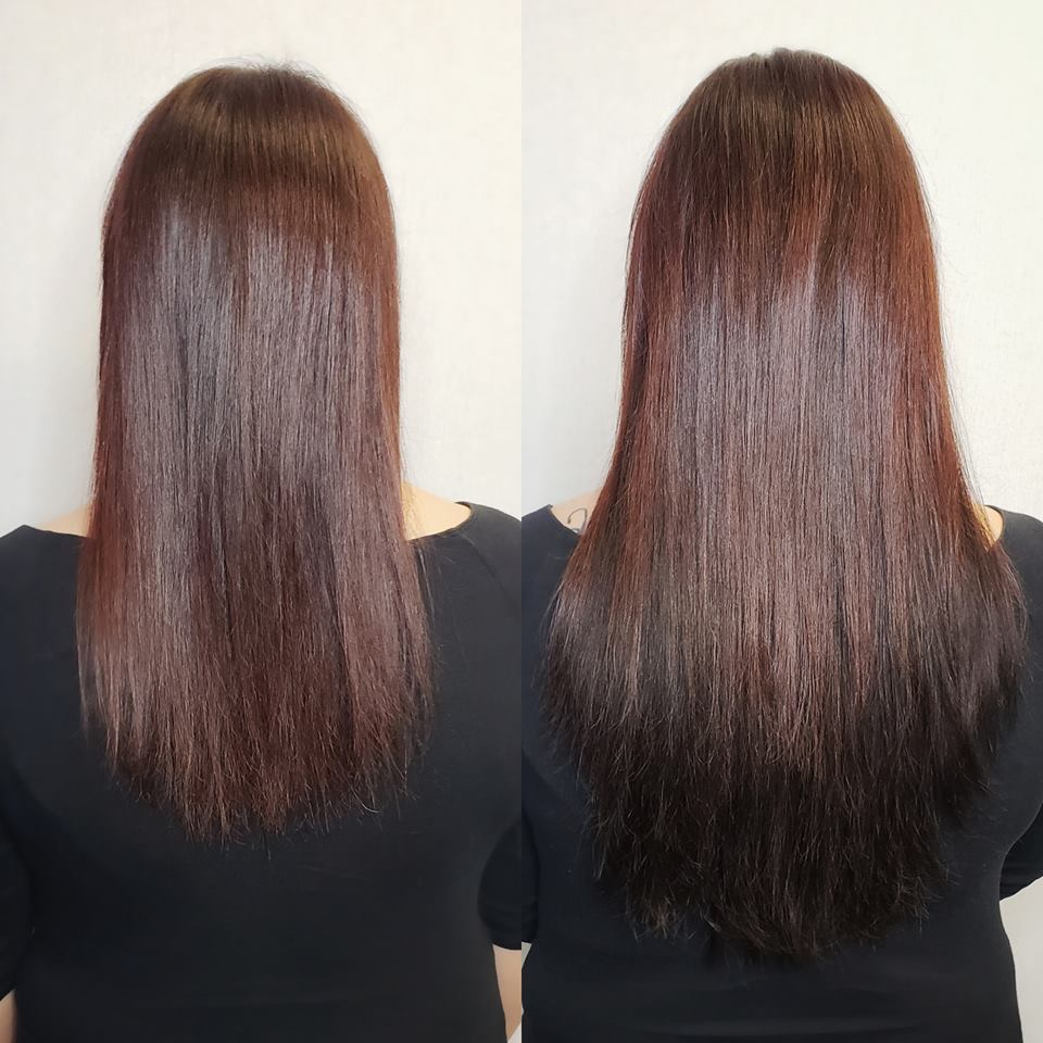 hair extensions for fullness brunette