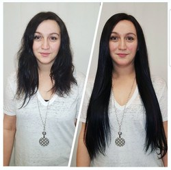 hair extensions dark & long