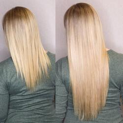 beige blonde extensions