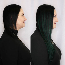 emerald green hair extensions