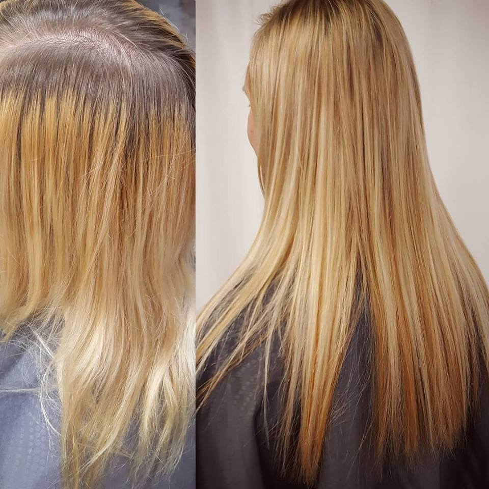 blond hair color and extensions