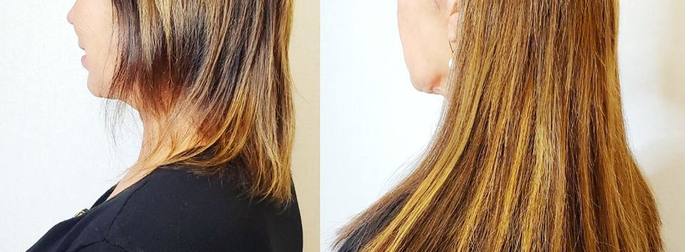 brunette and dark blonde hair extensions