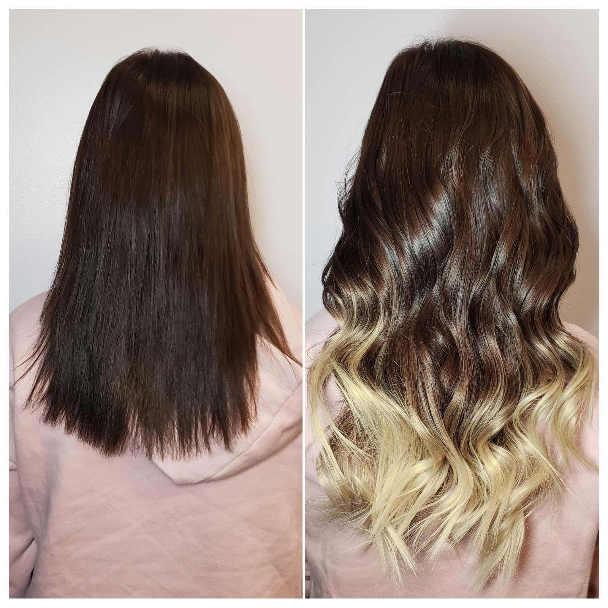 brown to blonde ombre hair extensions