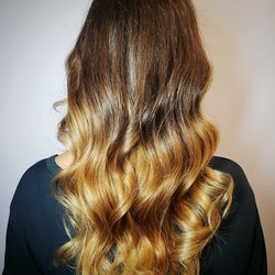 golden ombre