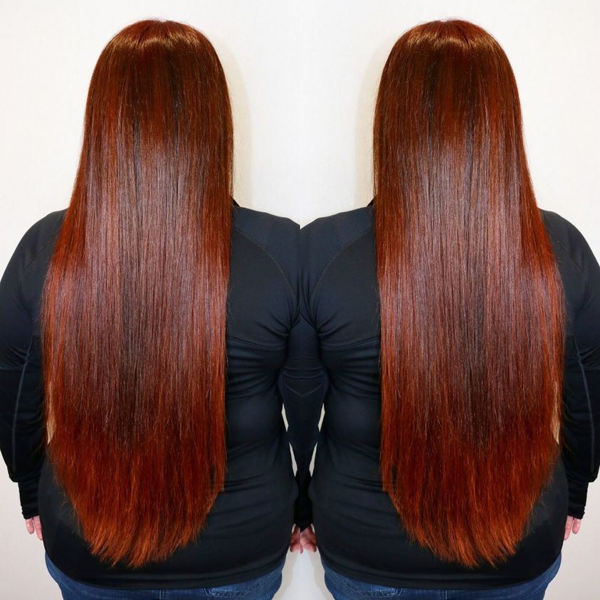 red extra long extensions