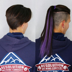 purple mohawk hair extensions