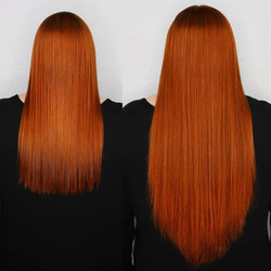 copper hair extensions