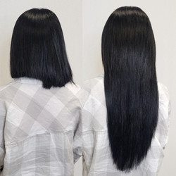 long extensions on short hair