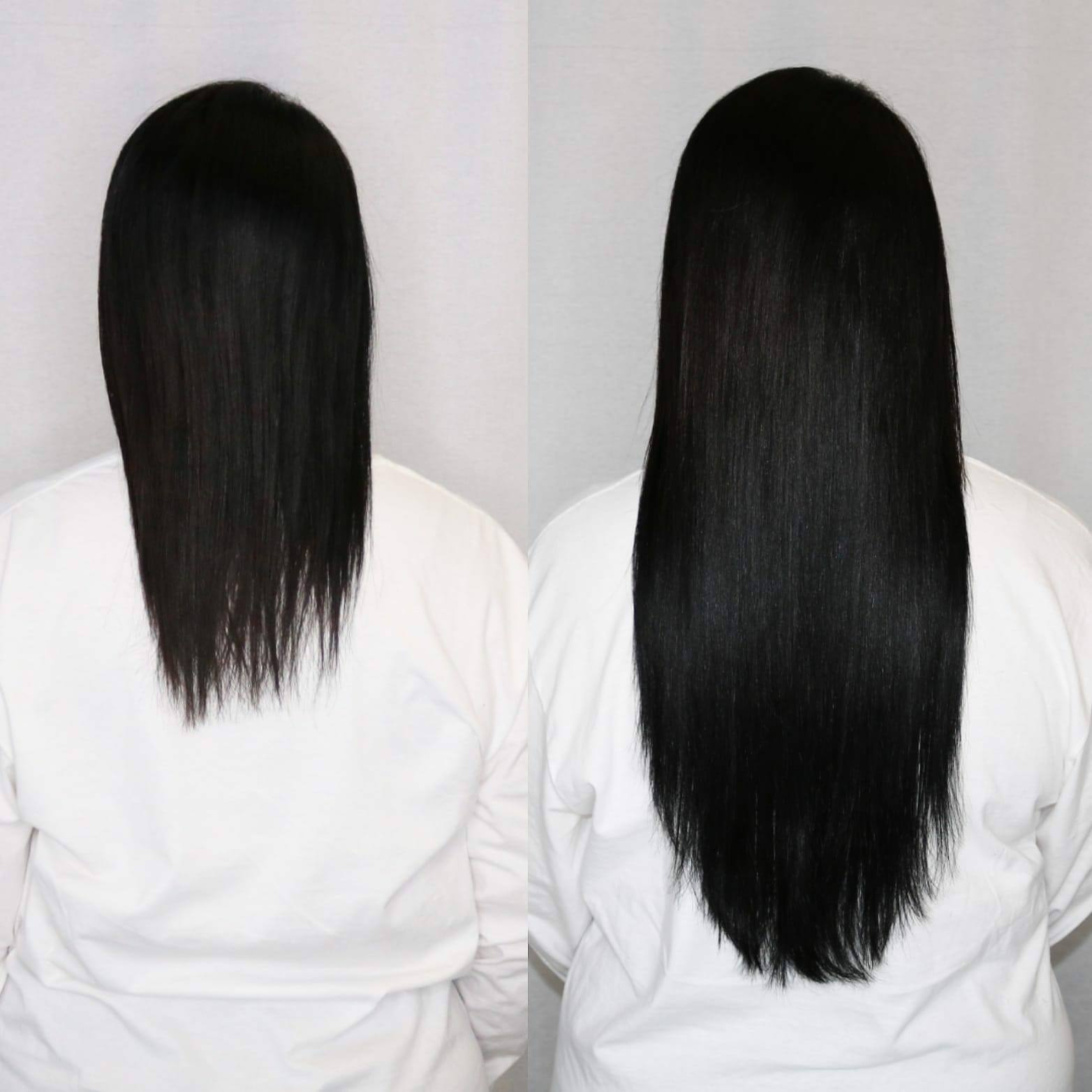 long dark hair extensions