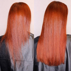 copper red hair extensions
