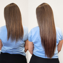 long brown extensions