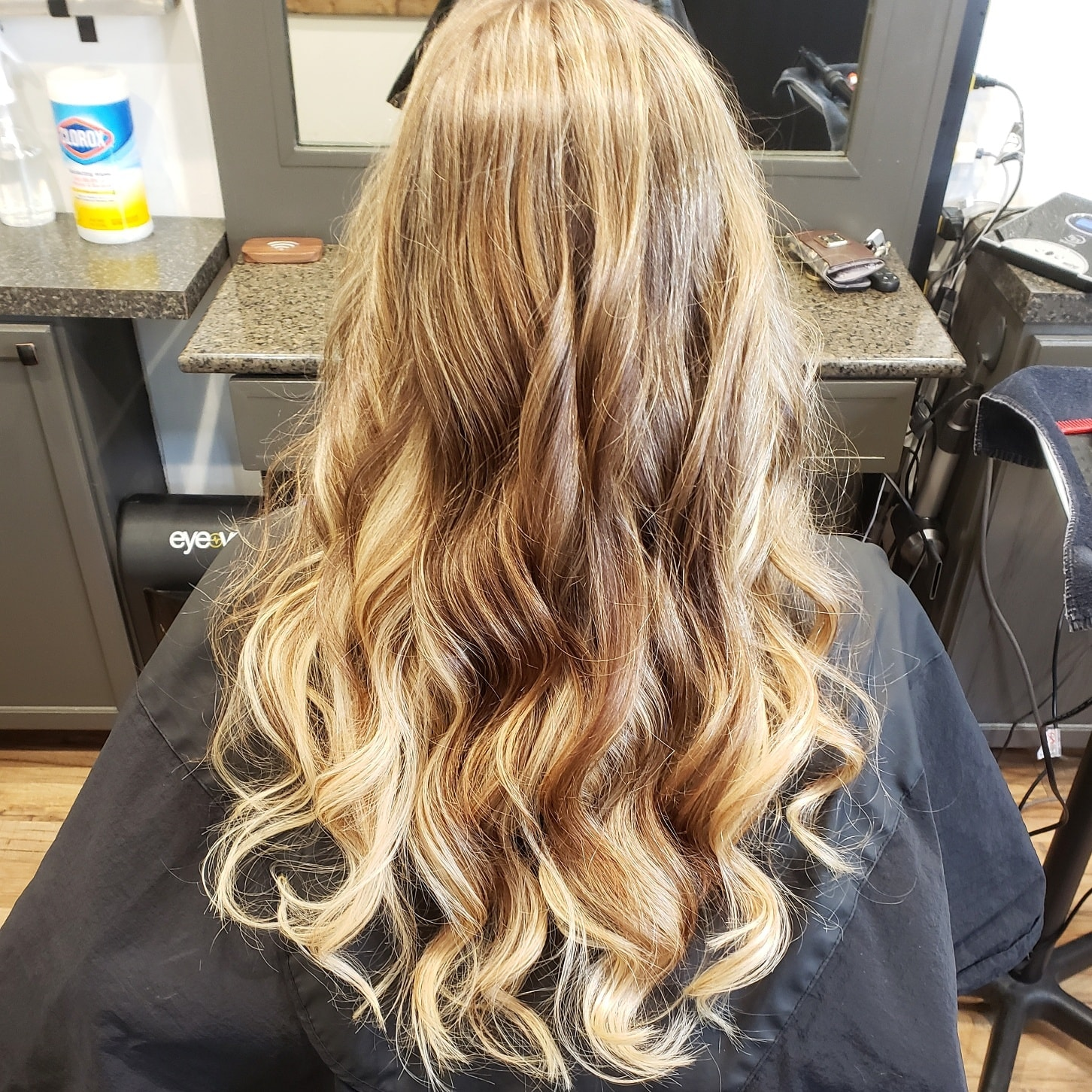 adding blonde with human hair extensions