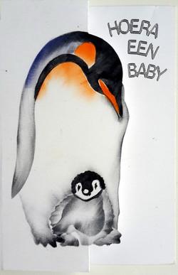 pinguin op een kaart