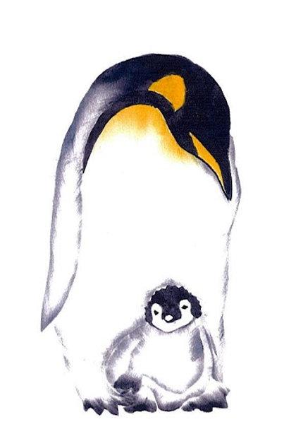 Pinguin met baby