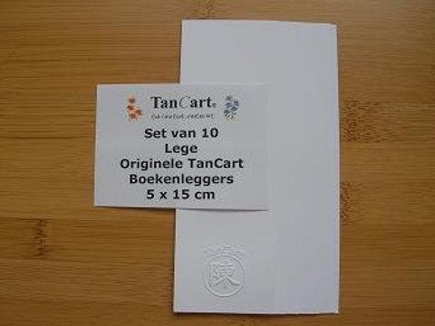 Set van 10 boekenlegger 250 gram van 5 bij 15 cm