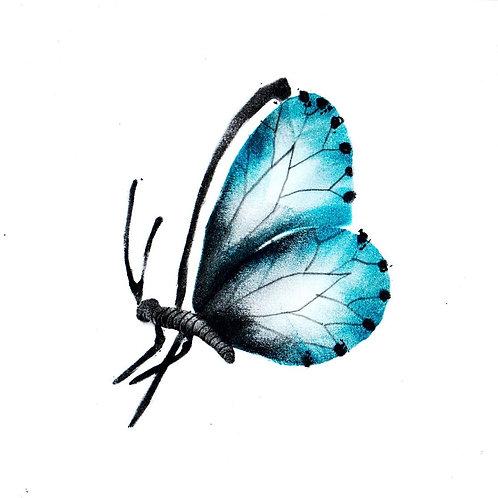 Blauwe vlinder klein