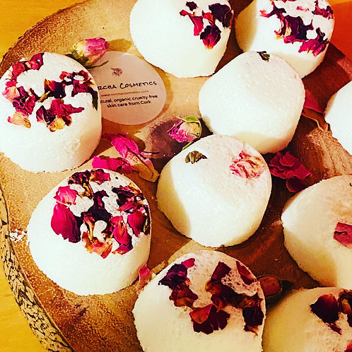 Fresh Rose luxury bath bombs  (set of 5)