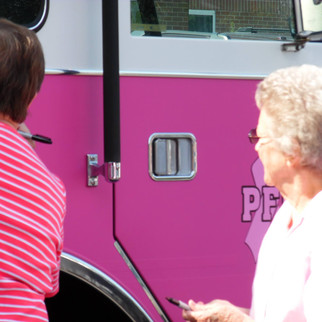 Plymouth Fire Department Paints Their Truck Pink for Breast Cancer