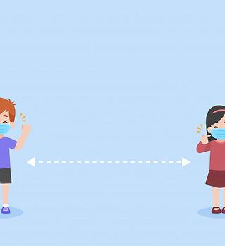 conjunto-ninos-mantener-distancia-social