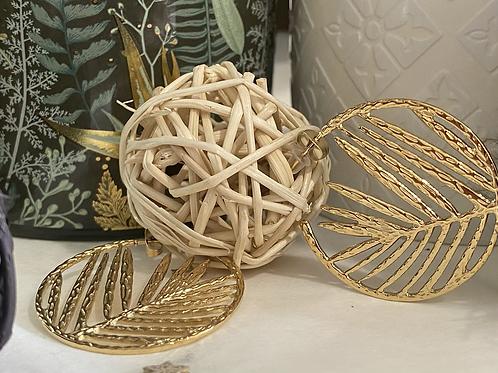Boucles d'oreilles Feuille de palmier