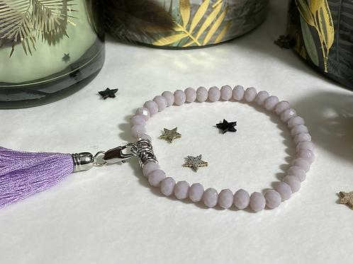 Bracelet perle Facettes violet
