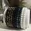 Thumbnail: Bracelet Perles Facettes Noir et Argent