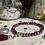 Thumbnail: Bracelet Perles Facettes Bordeaux