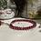 Thumbnail: Bracelet Perles Facettes Rouge