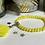 Thumbnail: Bracelet perles Facettes Jaune