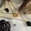 Thumbnail: Collier Triple Rangs Or et Noir