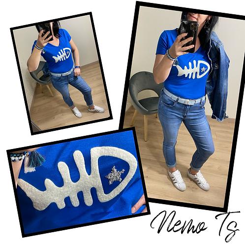 Nemo T shirt Bleu Roi