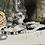 Thumbnail: Bracelet Perles Facettes Blanc