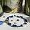 Thumbnail: Bracelet perles Facettes Bleu et Blanc