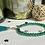 Thumbnail: Bracelet perles Facettes Vert Emeraude