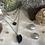 Thumbnail: Colliers Trois Rangs Argent et Noir