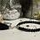 Thumbnail: Bracelet Perles facettes Noir