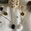 Thumbnail: Collier Triple Rangs Or et  blanc