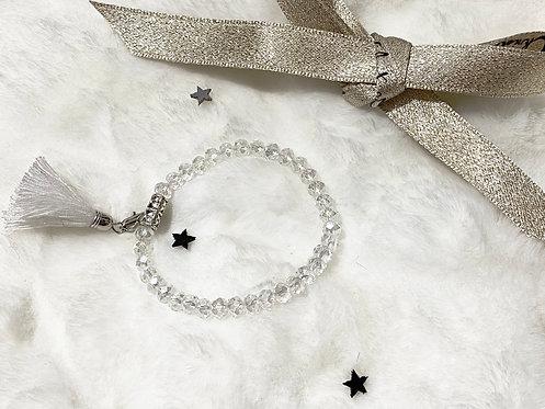 Bracelet perles Facettes transparentes