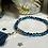 Thumbnail: Bracelet perle Facettes Bleu marbré